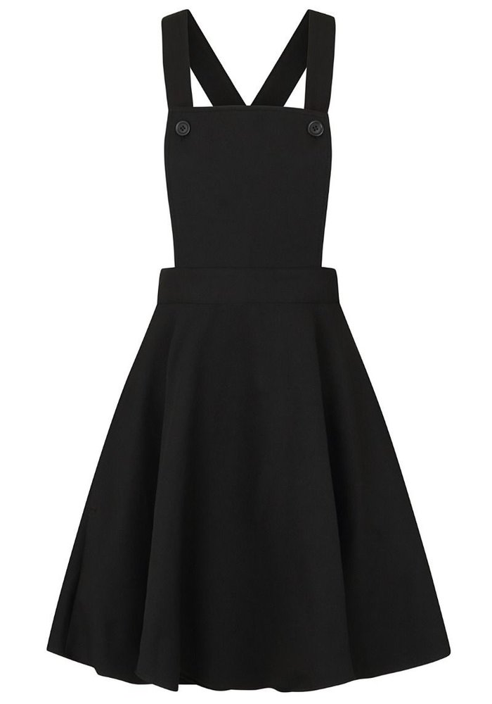 Amelie Pinafore Black Swing Dress +