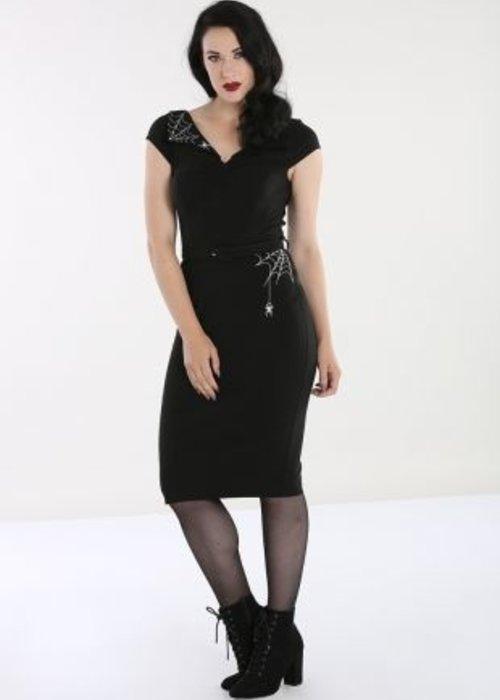 Hell Bunny Black Miss Muffet Spider Dress