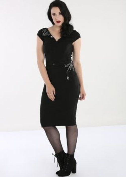 Hell Bunny Robe Miss Muffet Araignée Noire