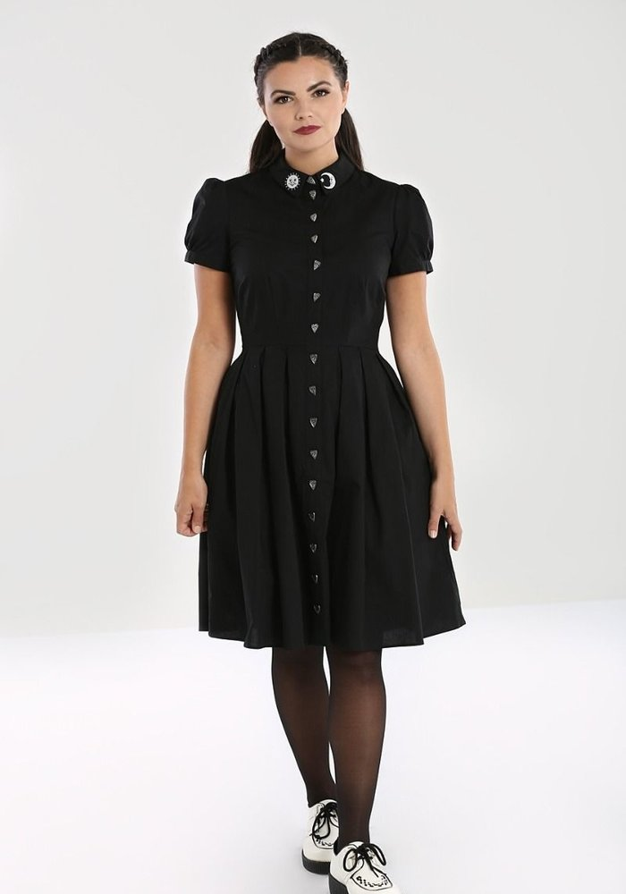 Samara Black Swing Dress