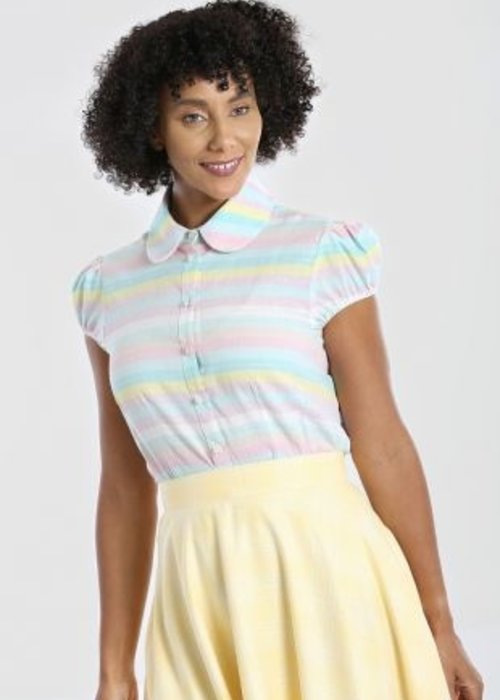Hell Bunny Rainbow Multi-Colors Blouse