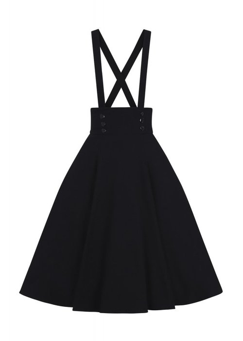 Collectif Ronnie Swing Skirt Black +