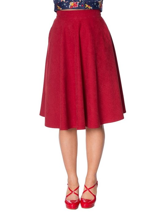 Banned Lady Sophisticated Swing Red Skirt