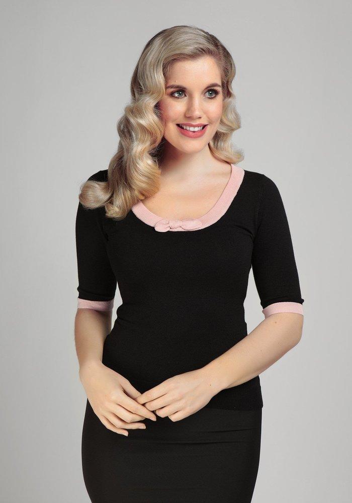 Freya Top Black & Pink