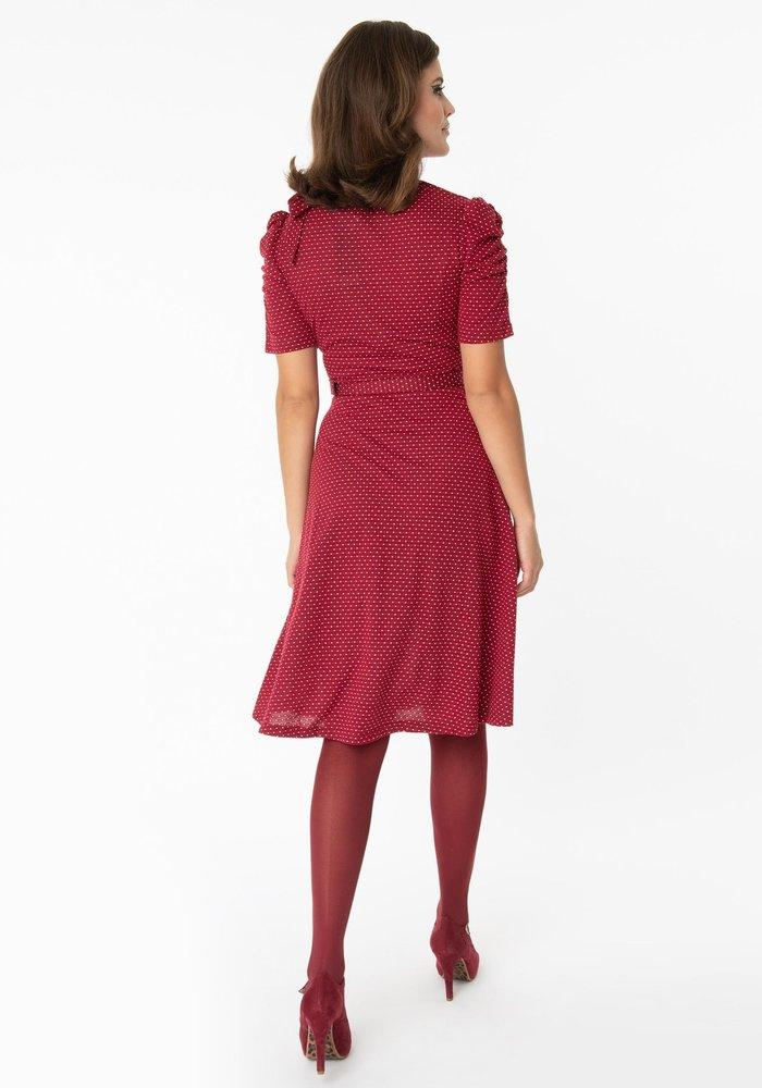 Posie Burgundy Dress