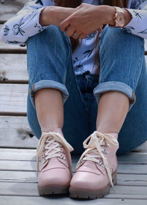 Anna Maria Dessin Pink Combat Boots