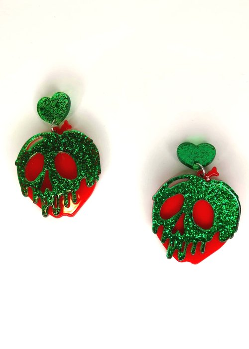 Kitsch'N Swell Boucle d'oreille Pomme Verte Empoisonnée