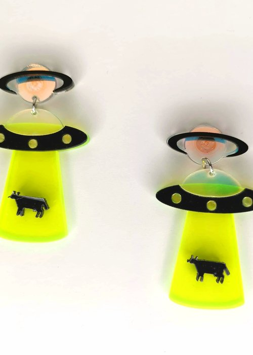 Kitsch'N Swell Aliens Green Earrings