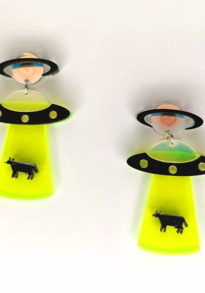 Green Aliens Earrings