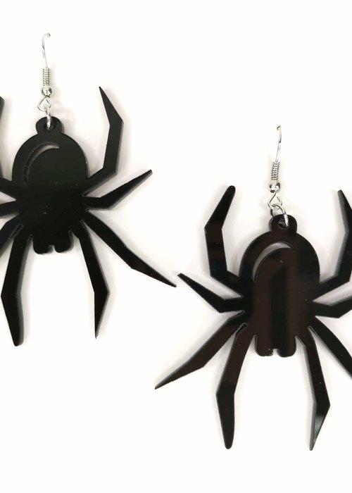 Kitsch'N Swell Black Spider Earrings