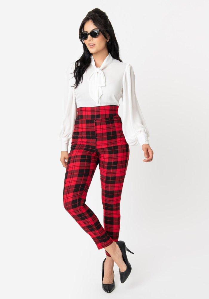 Pantalon Cigarette Rizzo Rouge