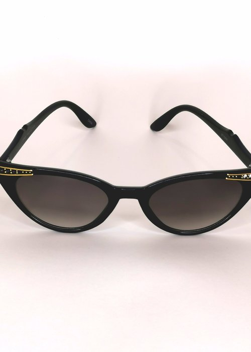 Kitsch'N Swell Lana Black & Gold Sunglasses