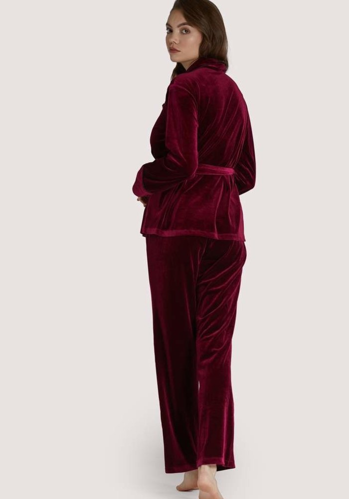 Pyjama Set Wine Velvet