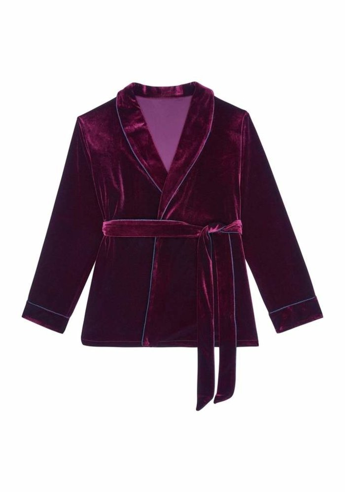 Ensemble Pyjama Velour Bourgogne