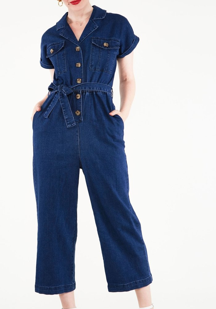 Jumpsuit Poppy Denim Bleu