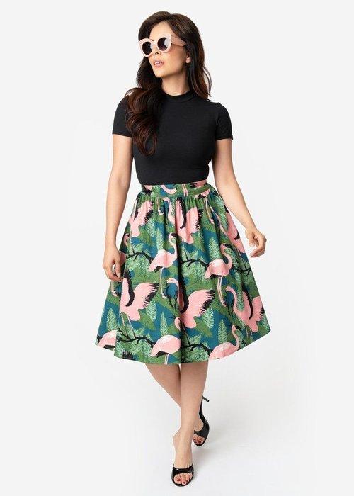 Voodoo Vixen Emma Flamingo Skirt