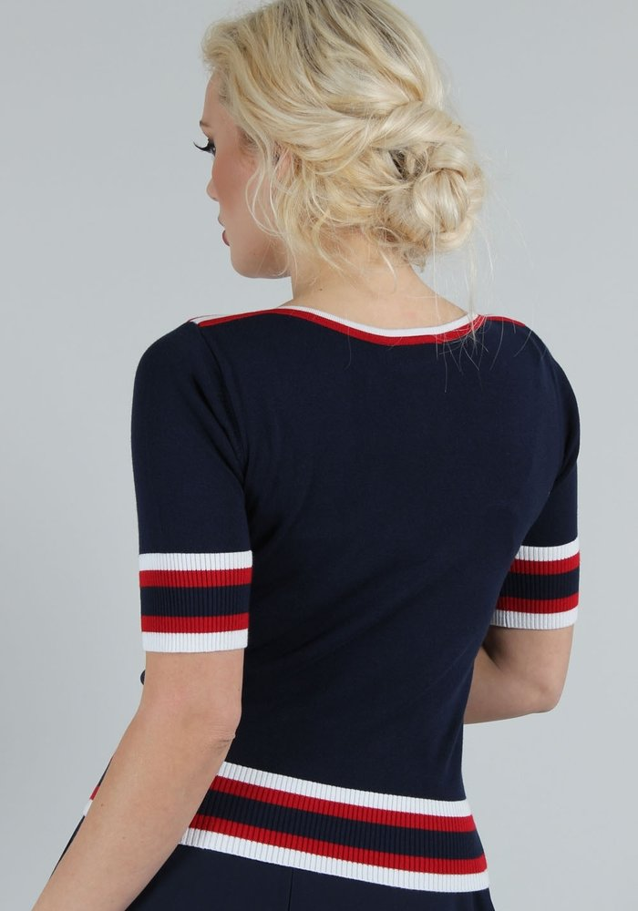 Lobster Navy Knit Top