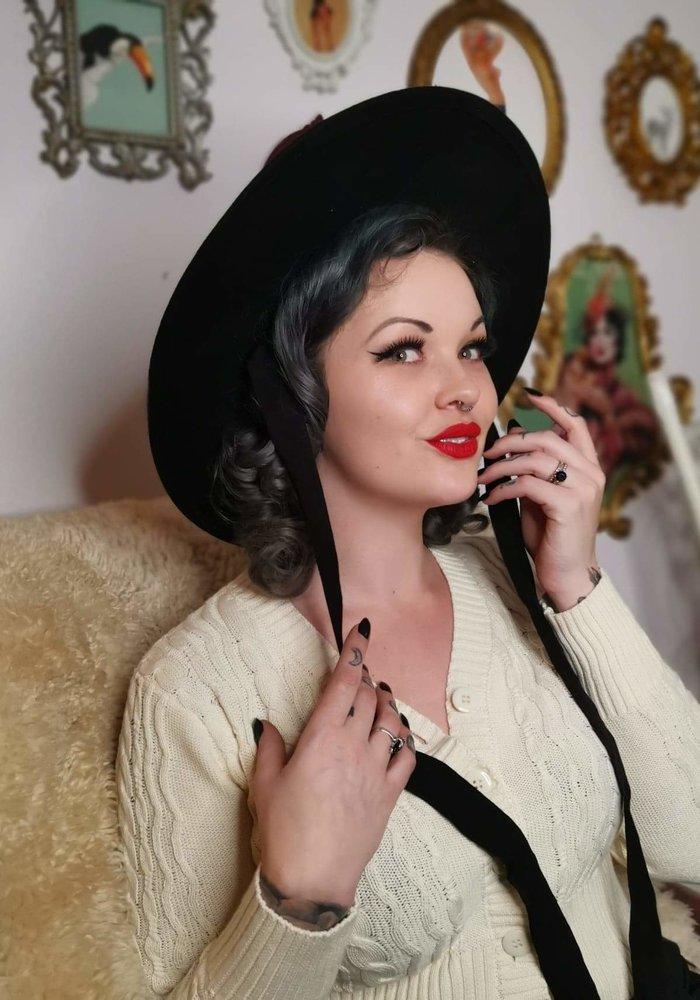 Chapeau Vintage Gothique Noir