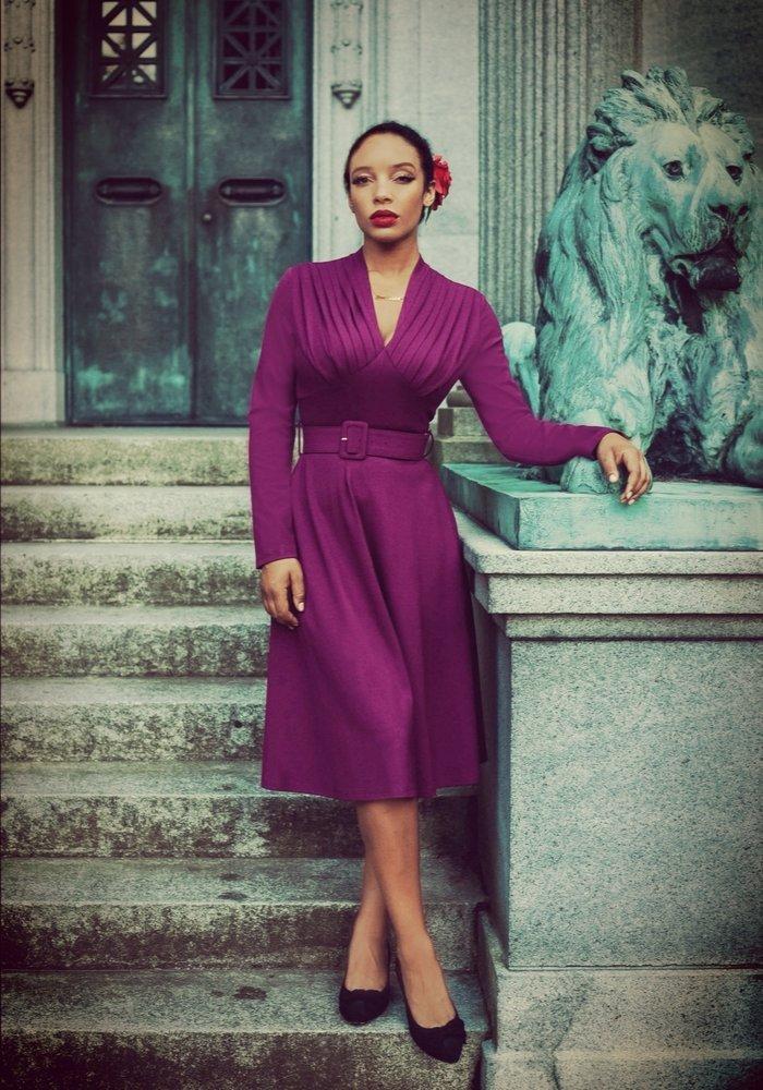 Claudia Purple Dress