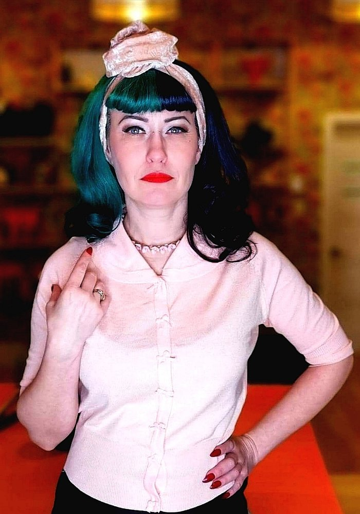 Cardigan April Rose Pâle