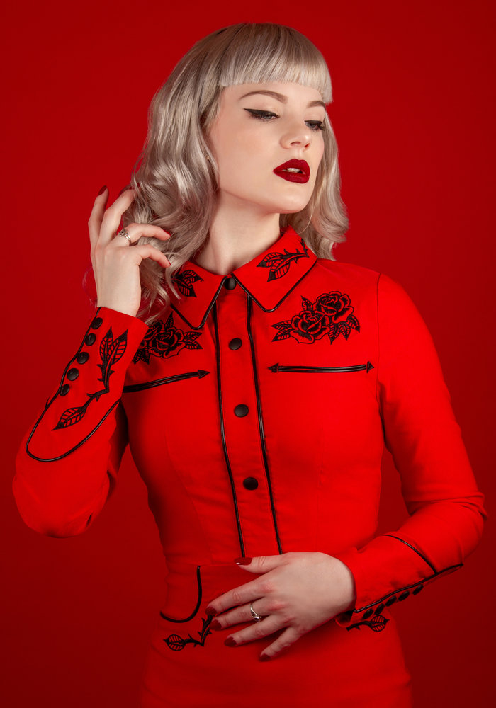 Robe June Rouge
