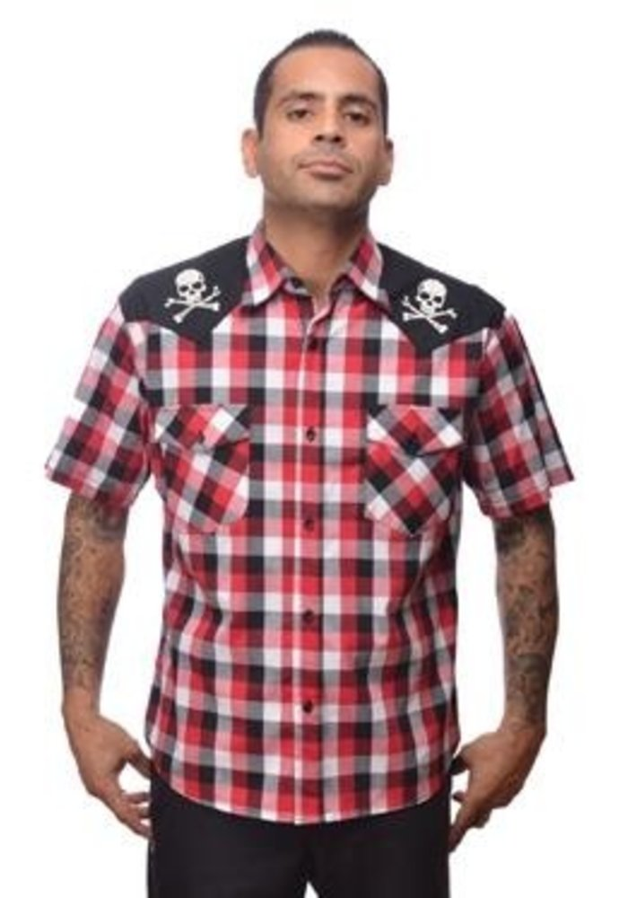 Chemise Chaos Western Rouge