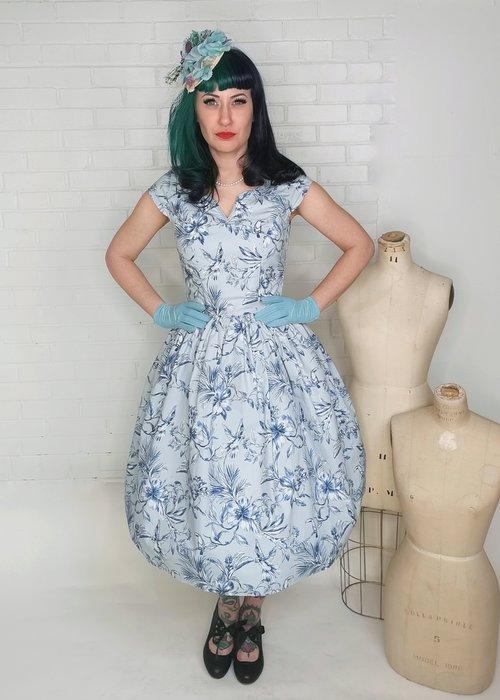 Hell Bunny Brasilia 50's Blue Dress