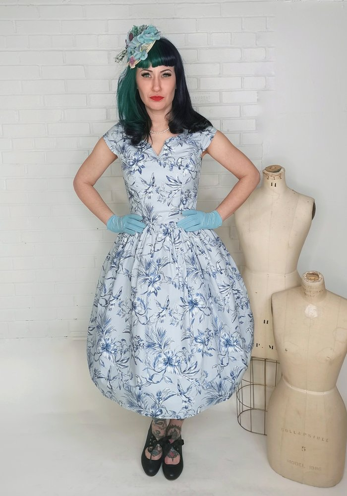 Brasilia 50's Blue Dress