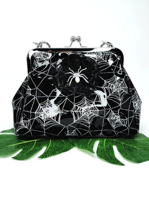 Banned Killian Spiderweb Blanc Handbag
