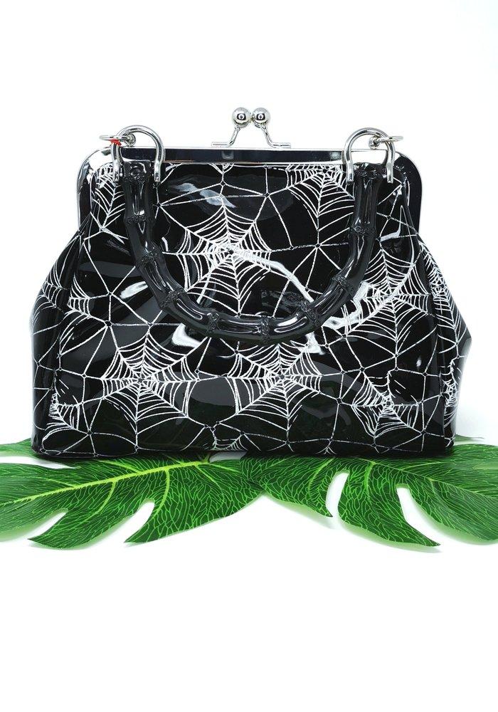 Killian Spiderweb Black Handbag