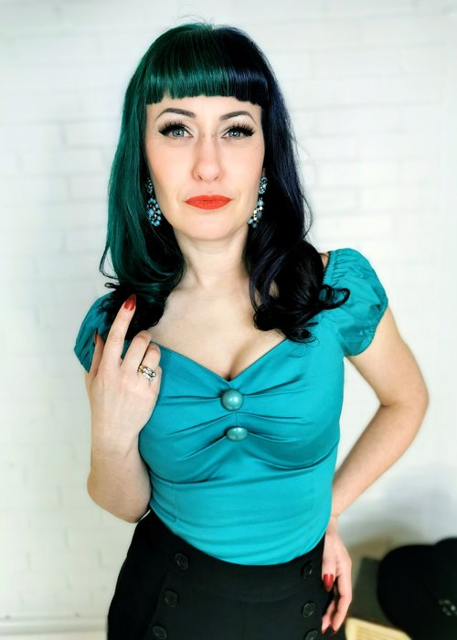 Collectif Top Dolores Turquoise