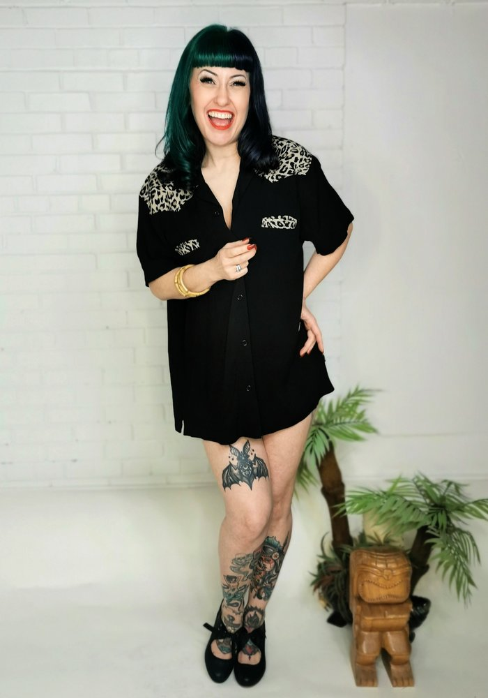 Jeffrey  Bowling Shirt Black