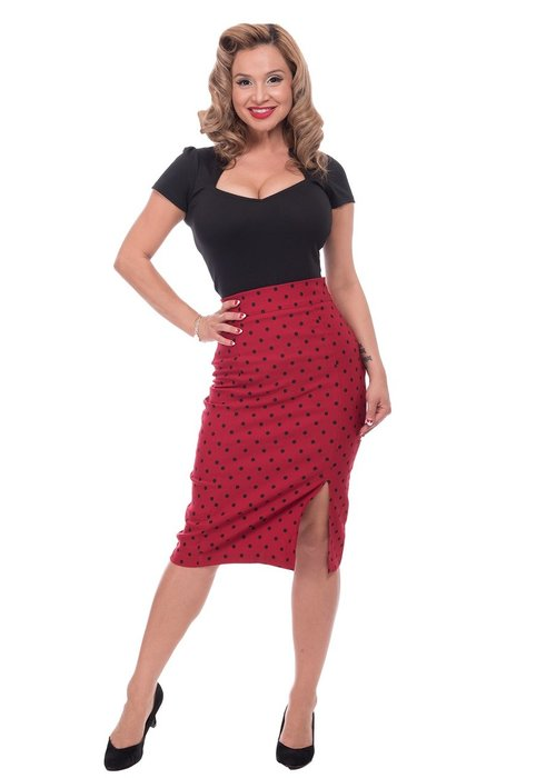 Steady Clothing Jupe Polka Dot Rouge