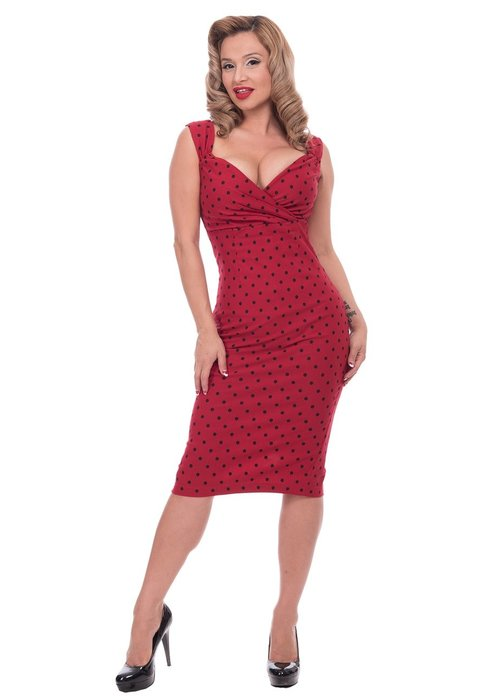 Steady Clothing Robe Diva Polka Dot Rouge