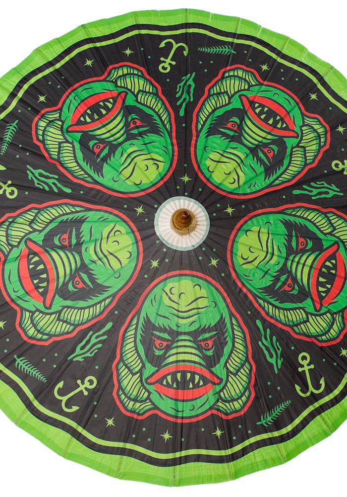 Ombrelle Créature Verte et Noire