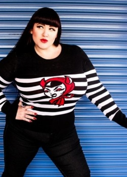sourpuss Tricot Devil Doll Noir Et Blanc
