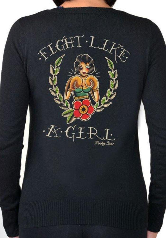 Cardigan Fight Like A Girl