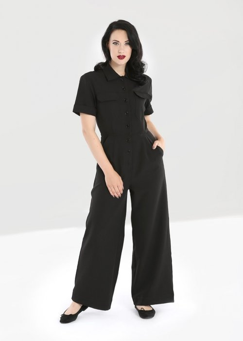 Hell Bunny Jumpsuit Abyss Noir