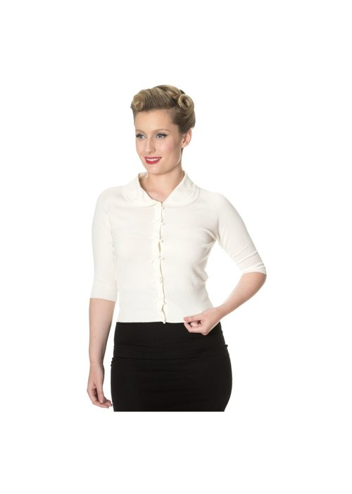 Banned Cardigan April White