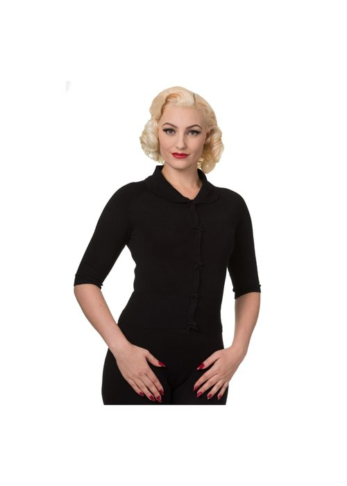 Banned Cardigan April Black