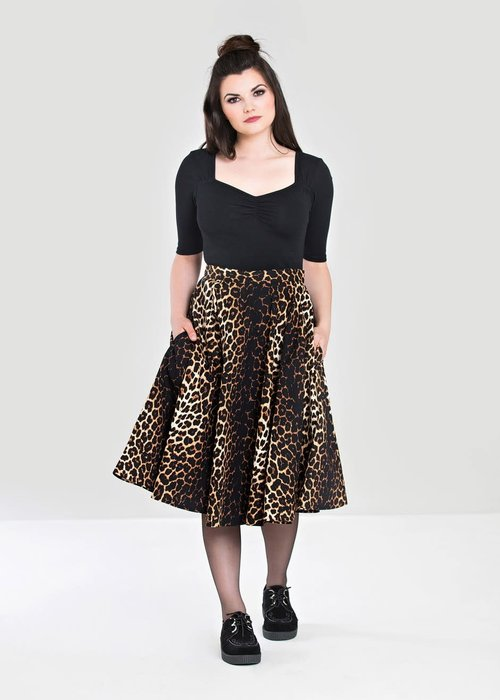 Hell Bunny Panthera 50's Leopard Skirt