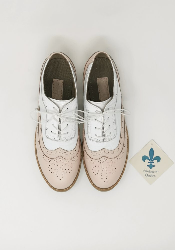 Chaussure Oxford Rose