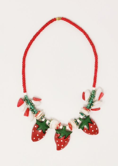 Kitsch'N Swell Strawberry Necklace Red