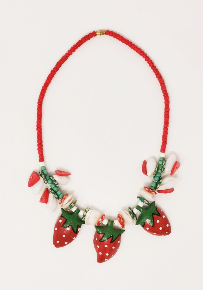 Strawberry Necklace Red