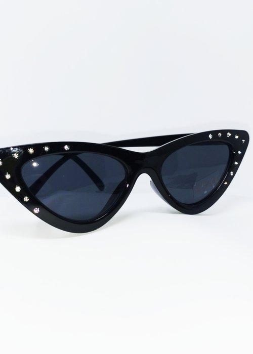 sourpuss Lunette Diamond Cat Eye Noir
