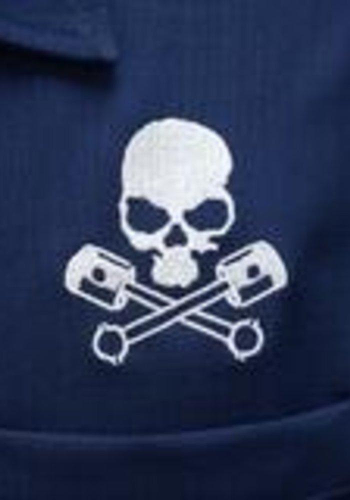 Chemise Skull & Piston  Marine