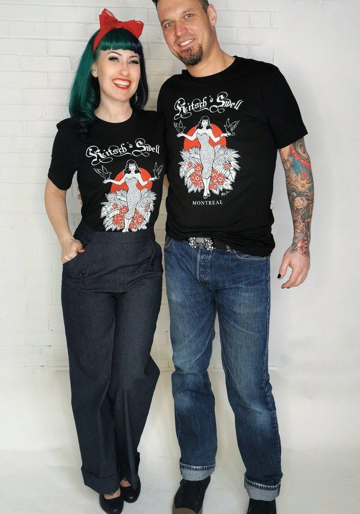 T-Shirt Kitsch'N Swell Noir Unisex