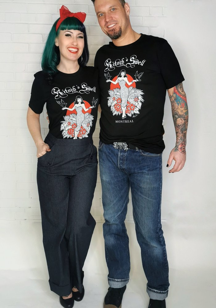 Unisex Kitsch'n Swell Black T-Shirt