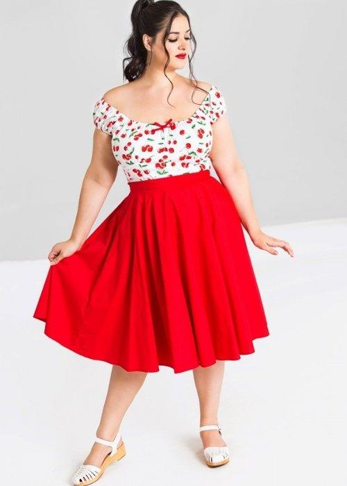 Hell Bunny Red Paula 50's Skirt