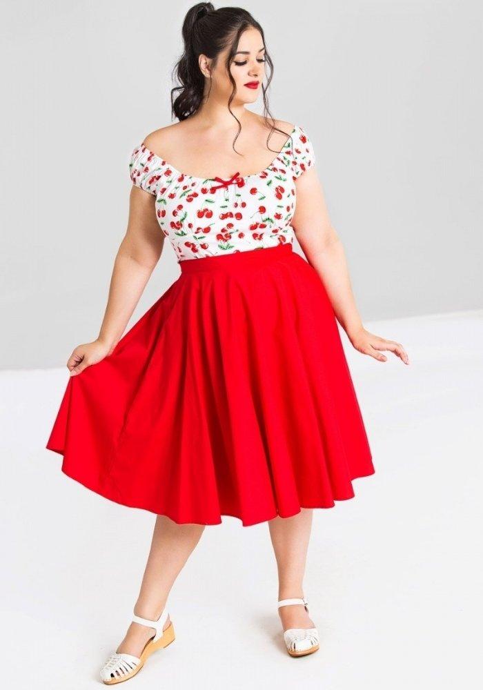 Red Paula 50's Skirt